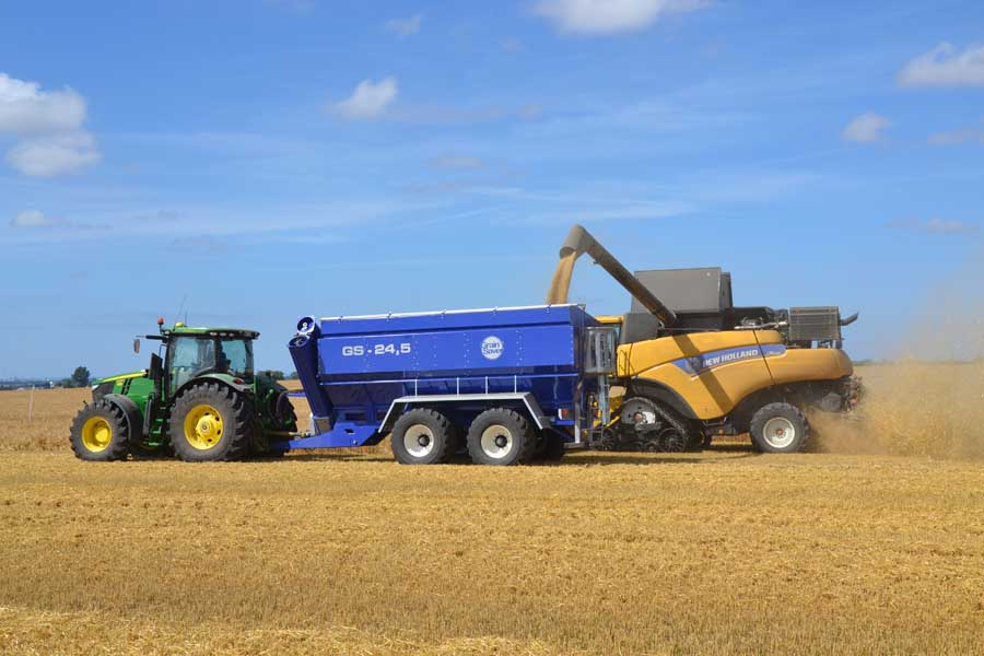 gs-24,5 grain cart with harvester