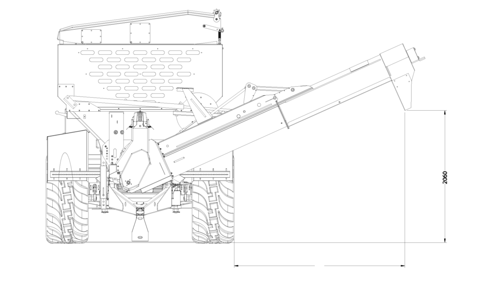 gs-12 grain cart with auger down