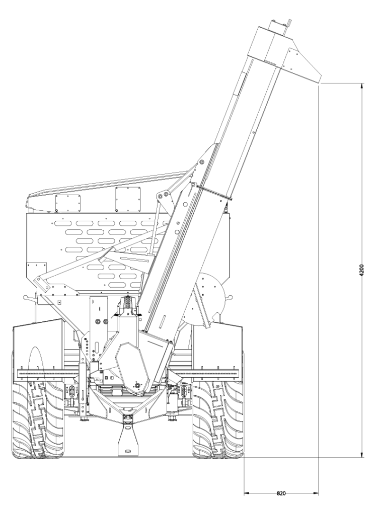 gs-12 grain cart with raised auger