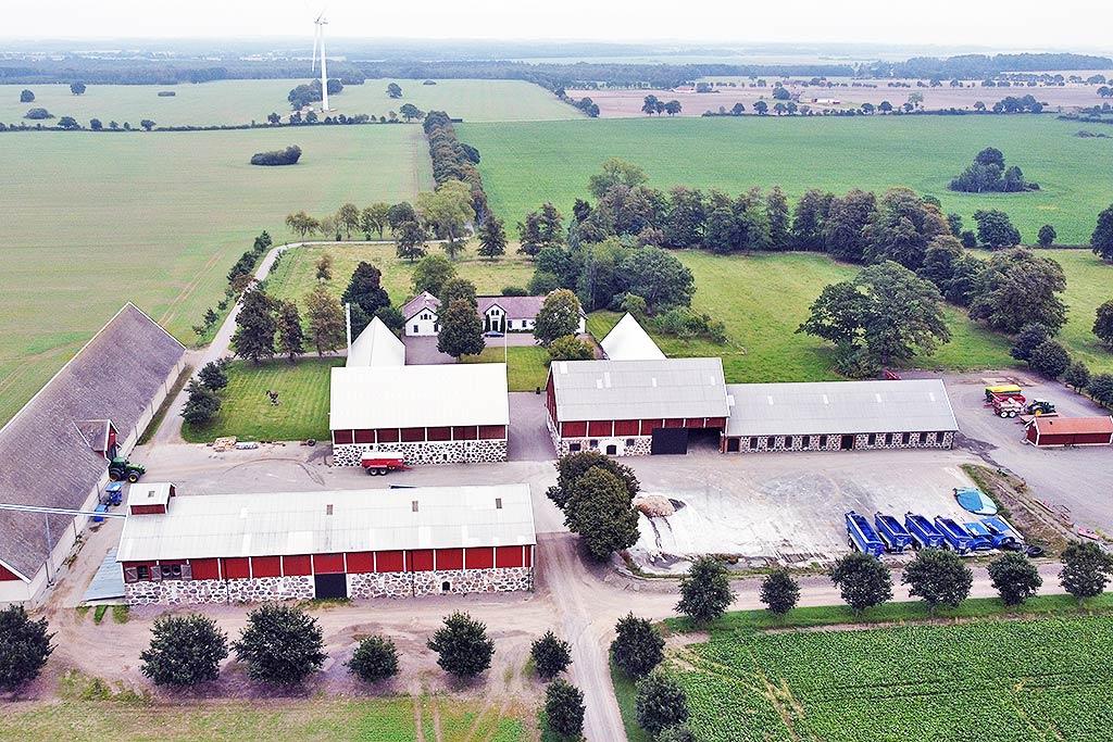 Halmstadgarden Farm Operation the Farm Mac workshop, storage and test area