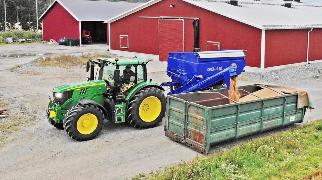 gs-12 grain cart offloading