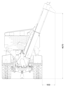 GS Grain Cart front view auger upper position