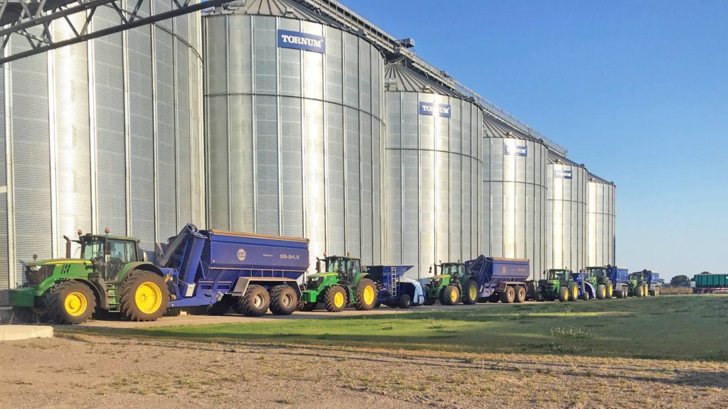 valberga grain storage with grain saver machinery